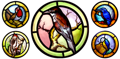 Stained glass birds - designs and techniques