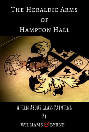 Stained-glass painting documentary: how to paint a stained-glass coat of arms