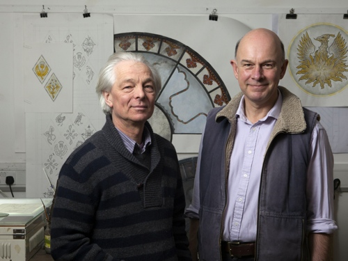 David Williams and Stephen Byrne of Williams & Byrne the glass painters