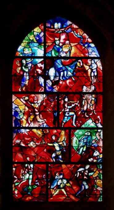 The Chagall/Marq window at Chichester Cathedral